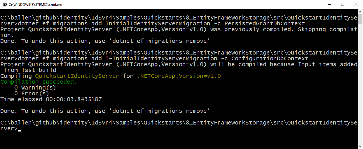 Using EntityFramework Core for configuration data